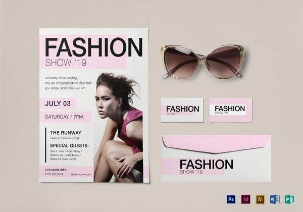 fashion show flyer template to edit