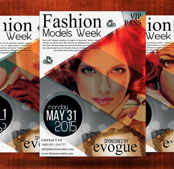 fashion week flyer template 4