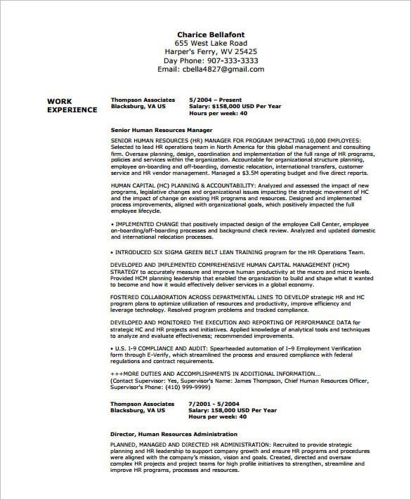 Best Resume Format Federal Jobs