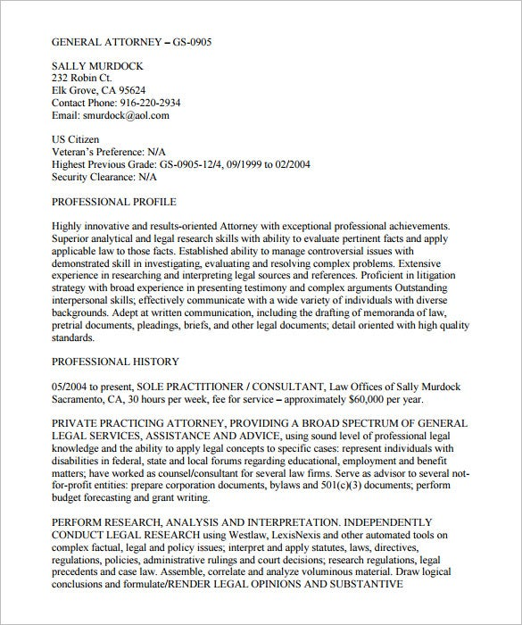 federal resume for free download
