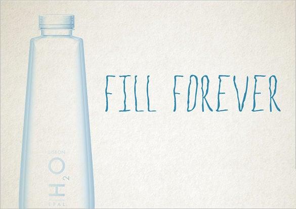 fill forever water bottle template