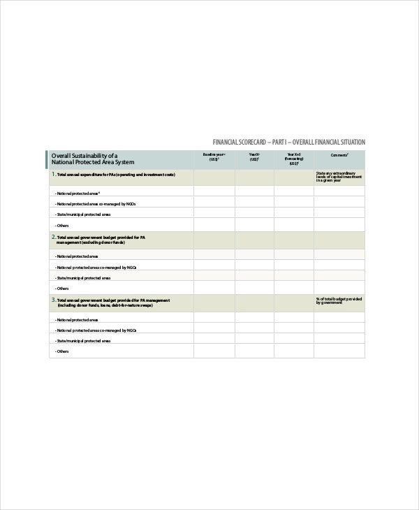 financial business scorecard template1