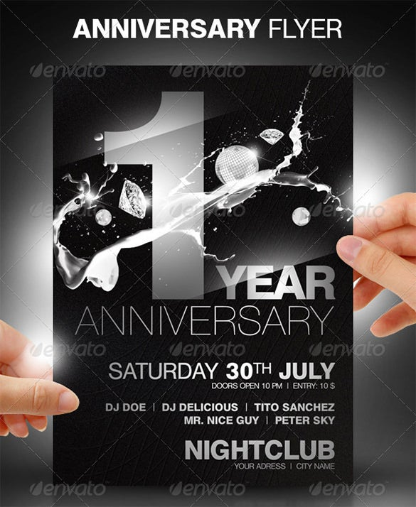 First Anniversary PSD Flyer Template U2013 $6