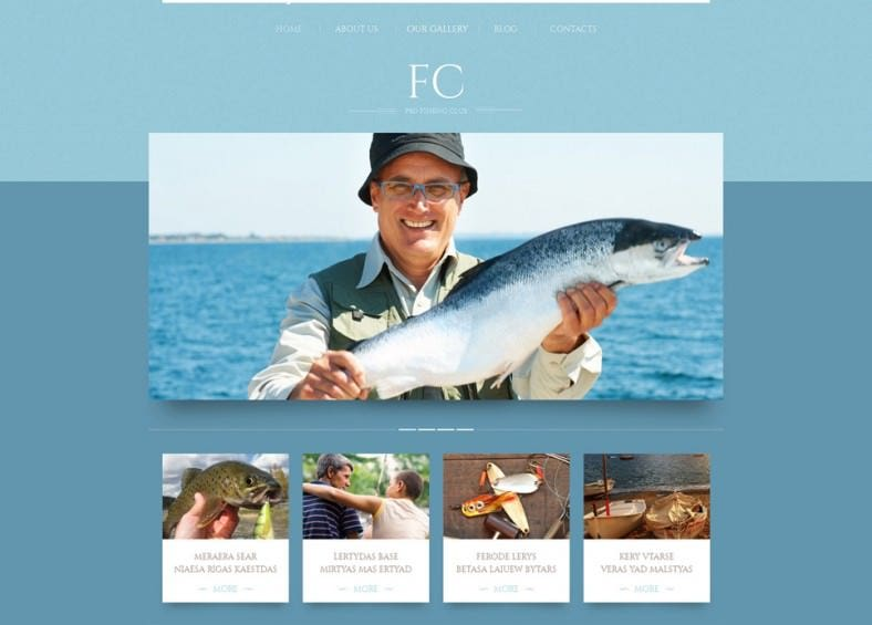 Fishing Responsive Portfolio WordPress Template
