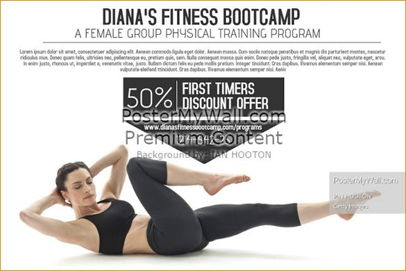 fitness bootcamp flyer template