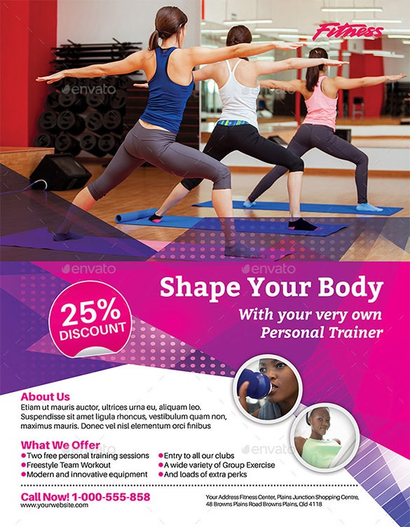 fitness flyer download