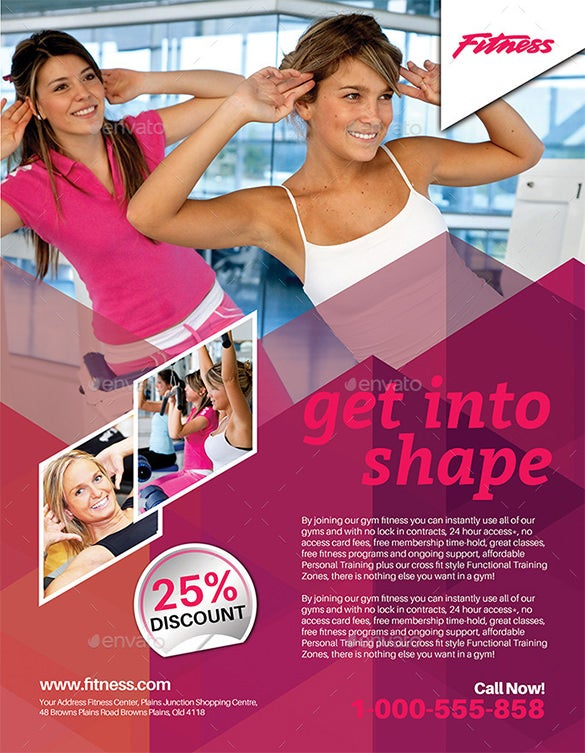 fitness flyer exercise flyer template