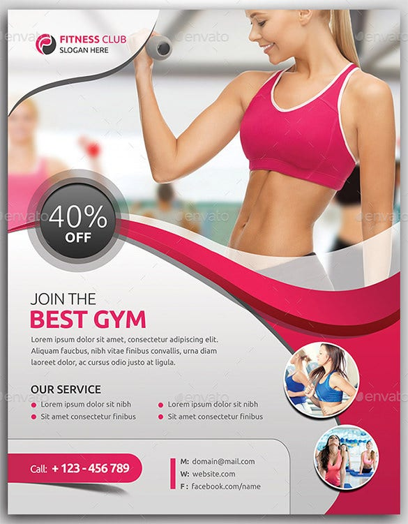 Fitness Flyer Templates Gym Flyer U2013 $6
