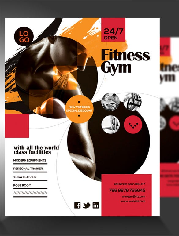 fitness flyer template 29 free psd format download free premium templates. Black Bedroom Furniture Sets. Home Design Ideas