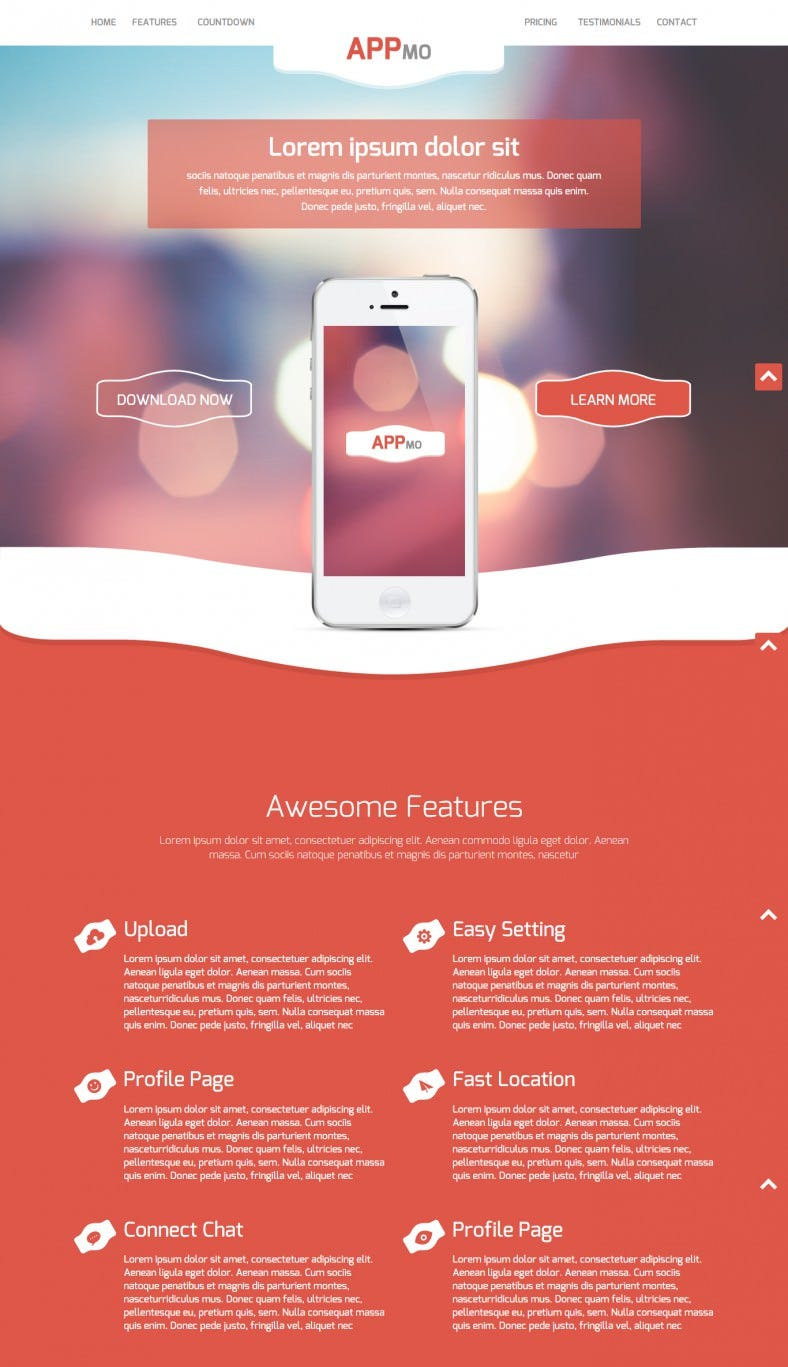 Flat Bootstrap Responsive App Template Free Download