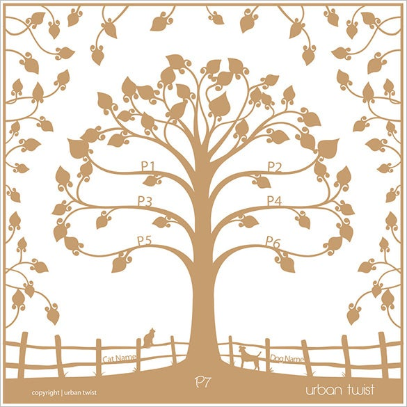 floating traditional family tree art £49