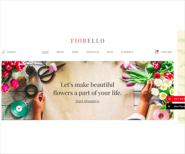 florist flower shop theme