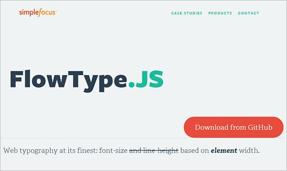 flowtypejs responsive web designing tool