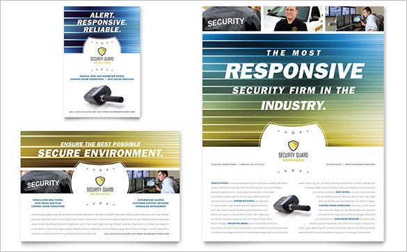 flyer template for security company 39