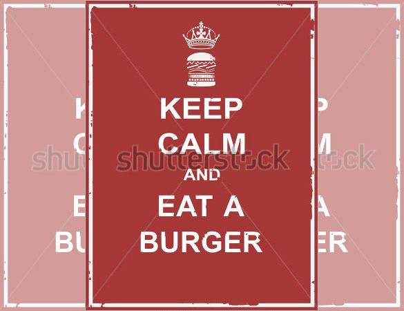 food campaign keep calm poster template