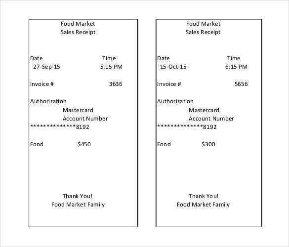 28  sales receipt templates