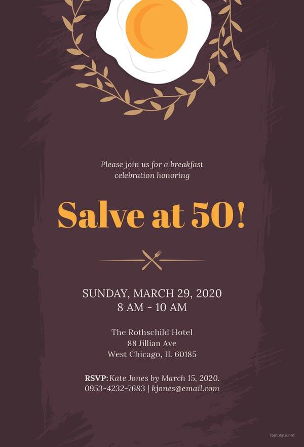 33+ Wonderful Breakfast Invitation Templates - PSD, AI ...
