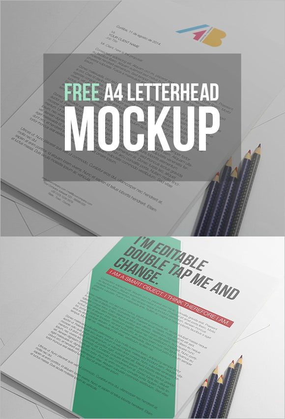 free a4 paper psd mockup template
