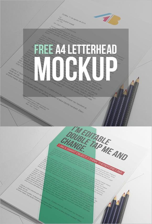 27  a4 paper psd mockup templates