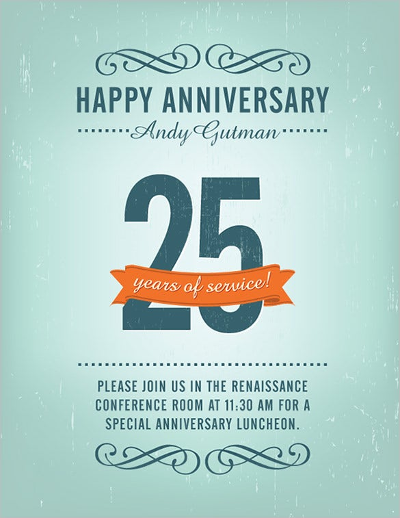Captivating Free Anniversary Flyer Template Download
