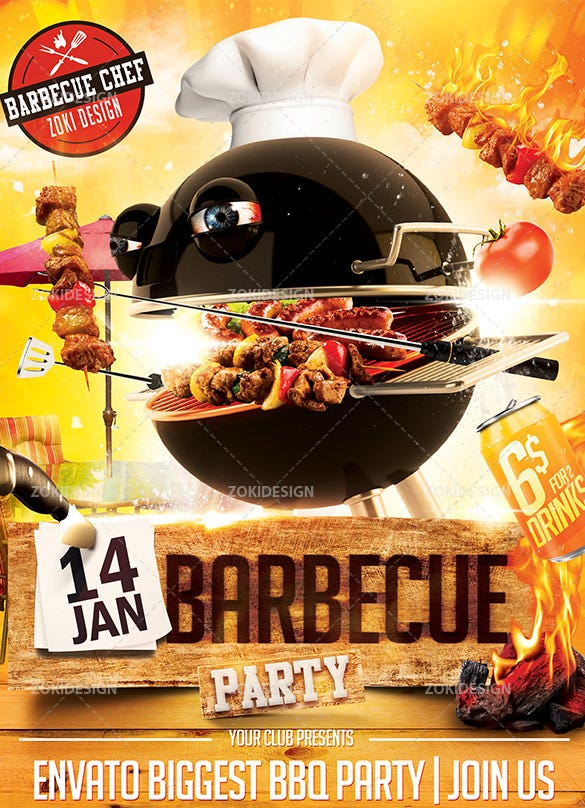 20+ BBQ Flyer Templates – Free Word, PDF, PSD, EPS, InDesign Format ...