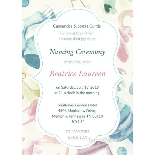 Invitation For Naming Ceremony Elita Mydearest Co