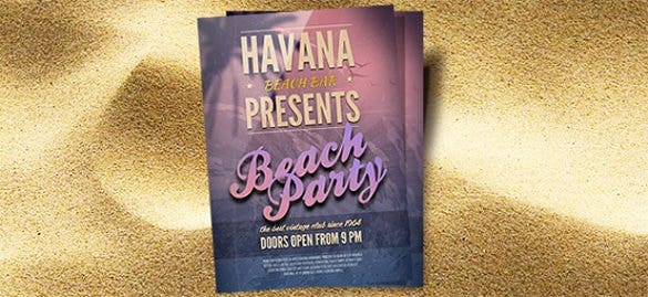 free beach flyer template