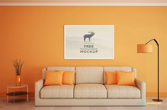 free beautiful poster frame mockup download1