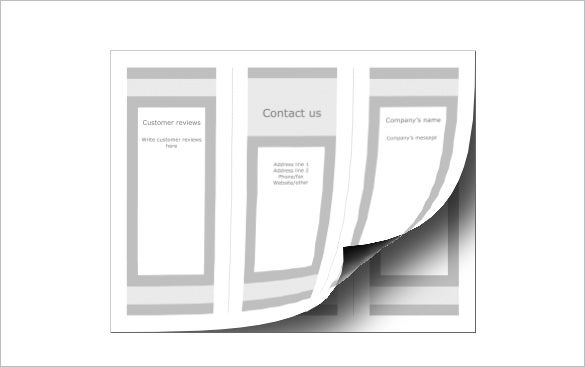 free blank brochure template download