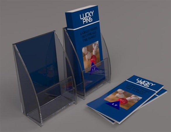 10 Brochure Holder Template Designs And Ideas Free