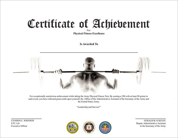 Certificate of achievement template army image collections certificate design and template for Fabulous achievement