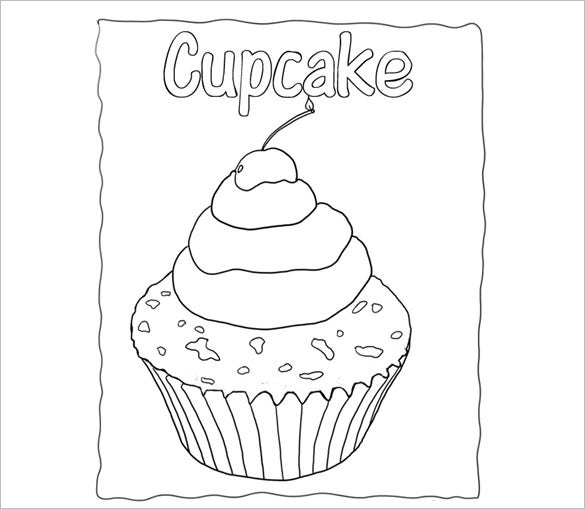 picture about Cupcake Template Printable called Printable Cupcake Template - 25+ EPS, Phrase Data files