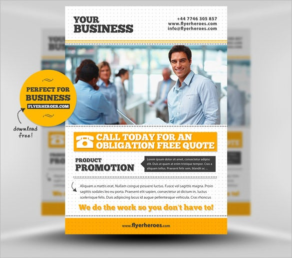 9 Fabulous Free Business Flyer Templates – Flyer Samples