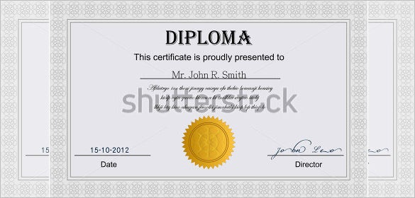 free download diploma certificate template