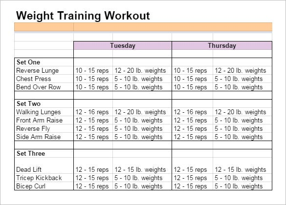 Workout training sheet click to see full size image workout setup 10 google docs templates free word excel documents download pronofoot35fo Choice Image