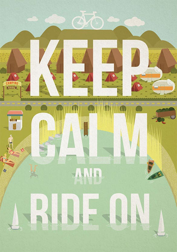free download keep calm and ride on poster template