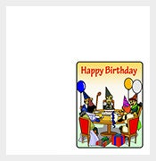free download quarter fold birthday card