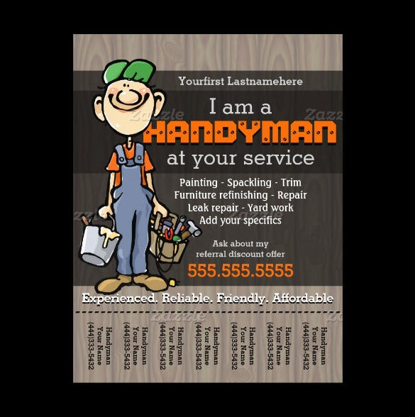 15 best handyman flyer templates designs free premium templates free editable handy man carpenter plumber flyer template cheaphphosting Images