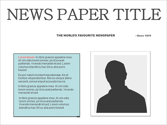 Free Editable Newspaper Template