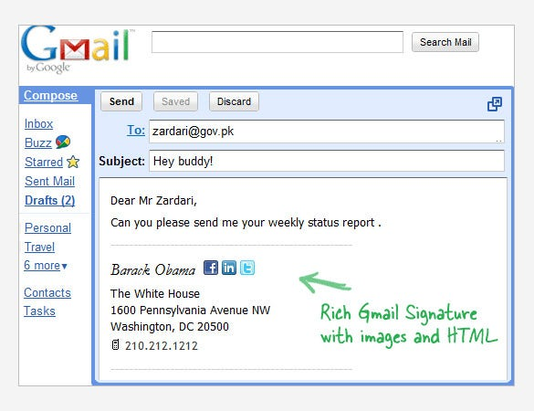 Gmail Signature Templates  Samples Examples  Format  Free