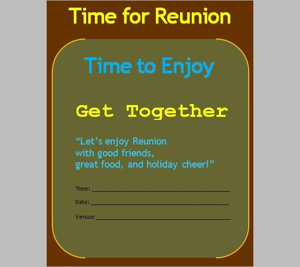 Get Together Invitation Template   Free Psd Pdf Formats
