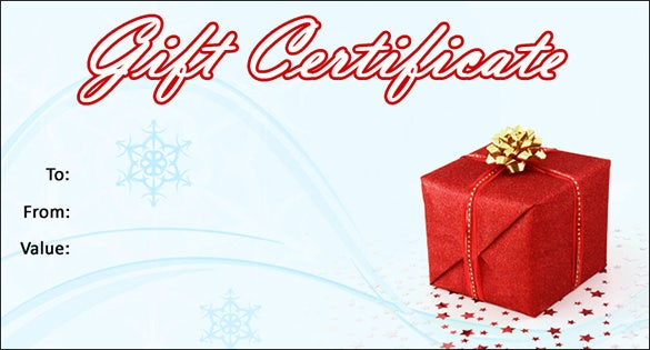 free christmas gift certificate templates for word – Certificate Samples in Word Format
