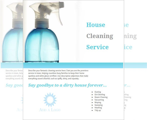 photo regarding Free Printable House Cleaning Flyers named 20+ Room Cleansing Flyer Templates inside of Phrase, PSD, EPS Vector