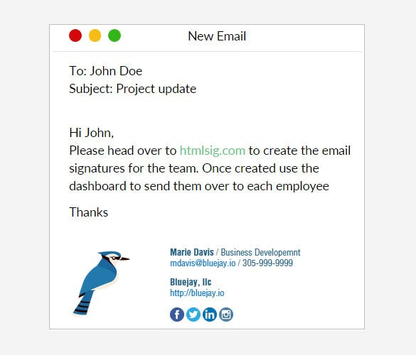 31 best email signature generator tools online makers for Creating an html email template