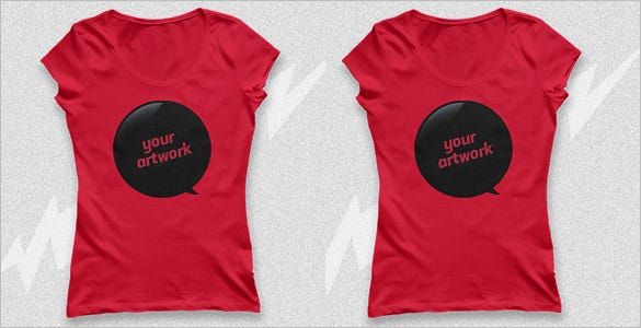 free ladies psd t shirt mockup template