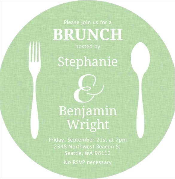 free lunch and brunch invitations template design