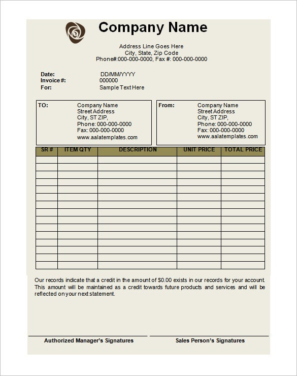 Debit Memo Templates Free Word Excel PDF Documents - Commission invoice format for service business