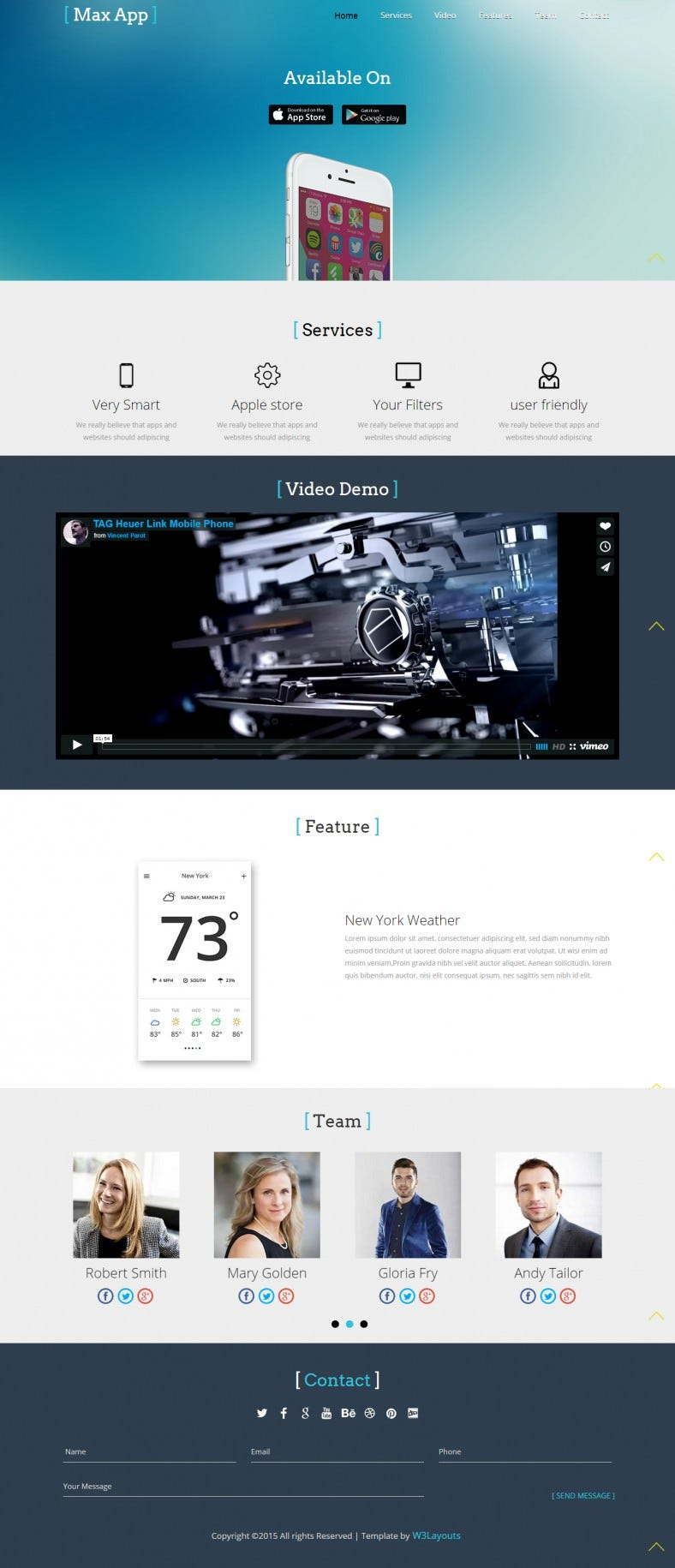 Free Mobile App Bootstrap Responsive Theme