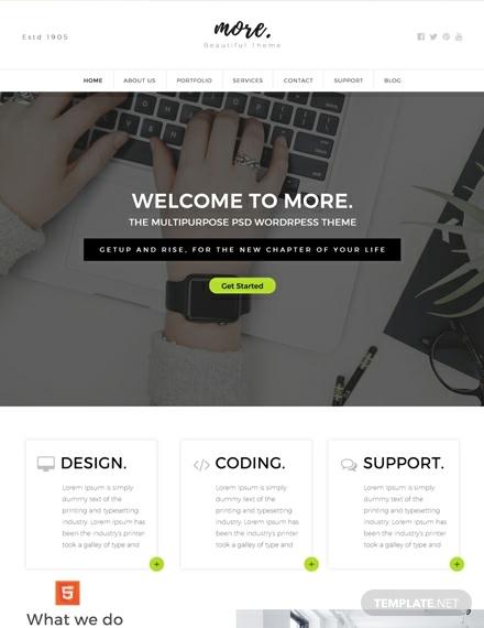 free multipurpose html5css3 website template