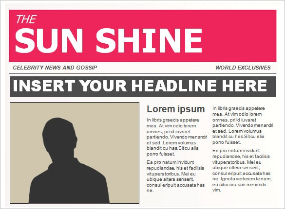 free newspaper template ppt